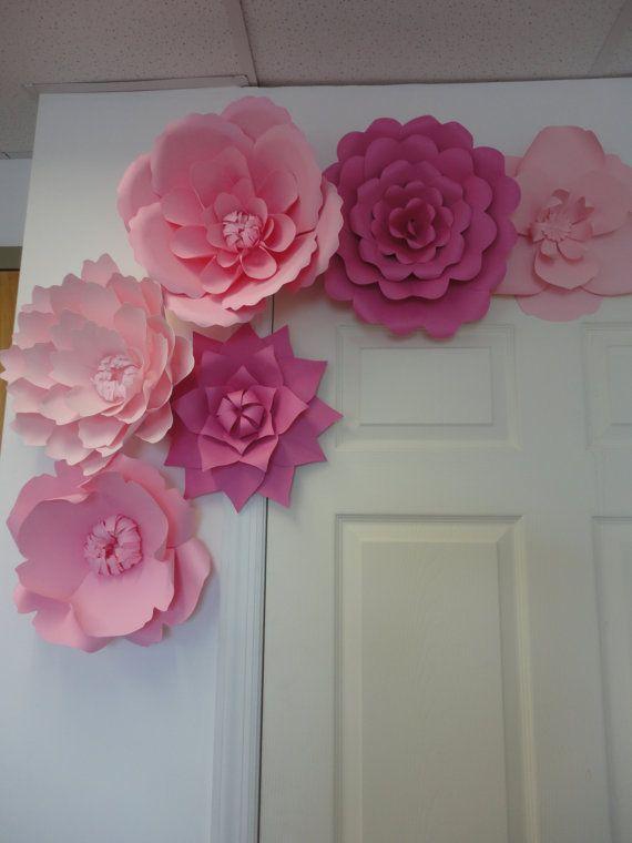 Große rosa Papierblumen Rose-Extra große Blumen von PoshStudios