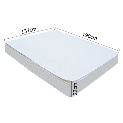 Double Pocket Spring Mattress with Pillow Top 22cm | Buy Double Mattress | MyDeal matress
