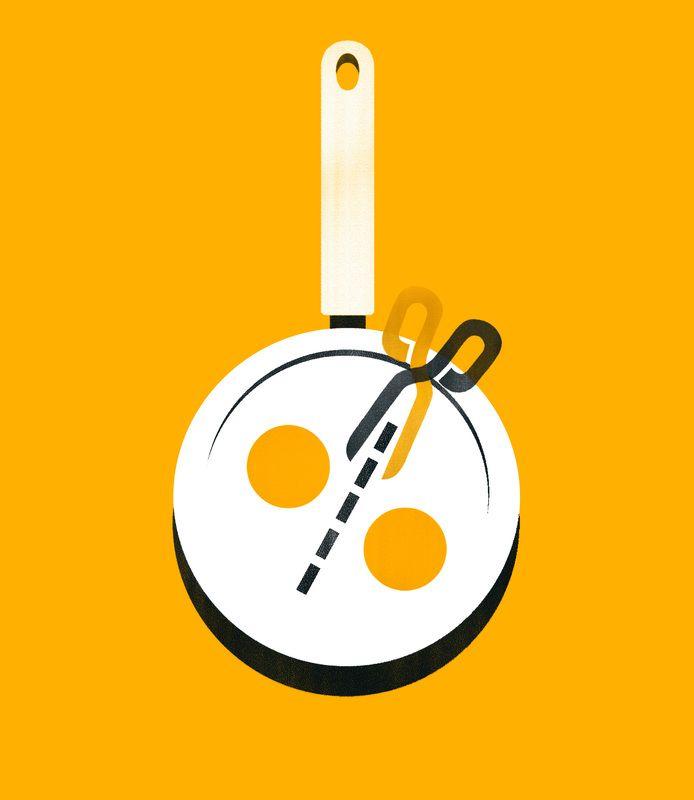 Giulio Bonasera - Cholesterol must fall 50% - The new guidelines of European cardiologists.  #conceptual #editorial #illustration #food #health #lifestyle   www.giuliobonasera.com