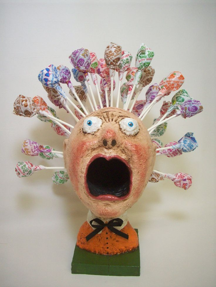 folk art paper mache - Google Search pencils to borrow instead of suckers