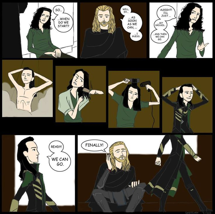 Diva Loki. I wonder what hair products he uses?