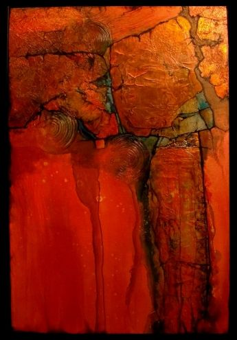 mixed media still life art pieces | ANASAZI, 10164, mixed media abstract Carol Nelson Fine Art, original ...