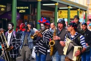 Band playing at the Open Streets Cape Town 2013