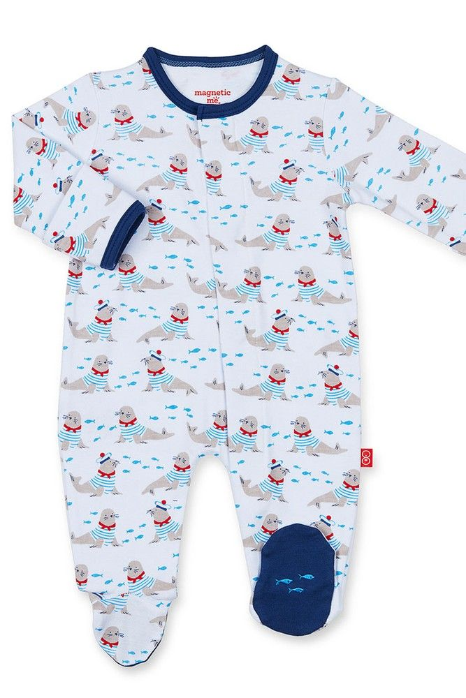 702cffb0e Magnificent Baby Magnetic Me™ Cotton Petit Marin Baby Boy Footie (Petit  Marin)