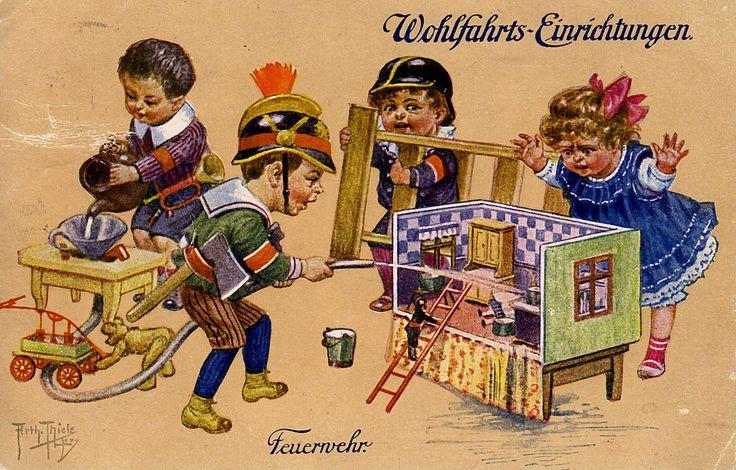 https://flic.kr/p/rEFqdp | Old Postcard - Arthur Thiele - Kinderspiele im WWI - Children's games in WWI - Jeux pour enfants dans la Première Guerre mondiale - | My good friend Asmodea present her collection
