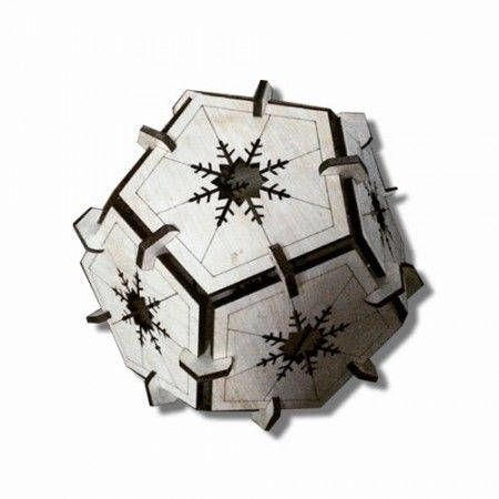 Dodecahedron lamp cover