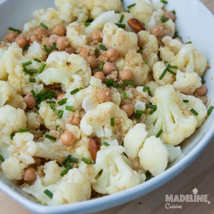 Salata de conopida, naut si quinoa / Cauliflower, chickpea and quinoa salad - Madeline's Cuisine