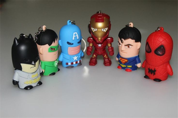 the avengers captain America,Superman,Batman,Green Lantern,spider man,Iron Man key chains flashlight LED sound light keychains-in Key Chains from Jewelry & Accessories on Aliexpress.com | Alibaba Group