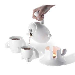 Чайный сервиз с чайником Кактус