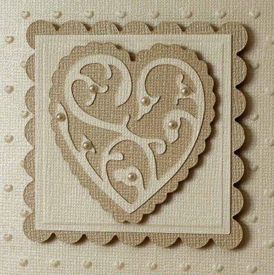 Pretty Wedding Card Idea