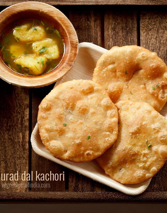 Urad Dal Kachori Recipe - Soft as well as crisp stuffed kachori from the Uttar Pradesh Cuisine.