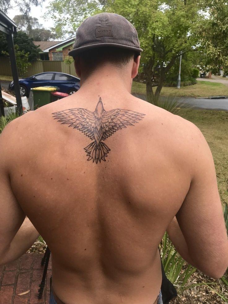 Simple Upper Back Tattoos For Men Http Viraltattoo Net Simple Upper Back Tattoos For Men Html In 2020 Tattoos For Guys Small Chest Tattoos Back Tattoos For Guys