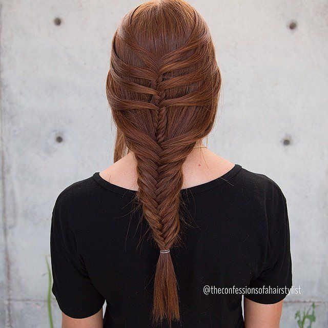 If you're up for a braided challenge, try out the mermaid braid and end it off with a fishtail. The perfect style for an afternoon outdoors!