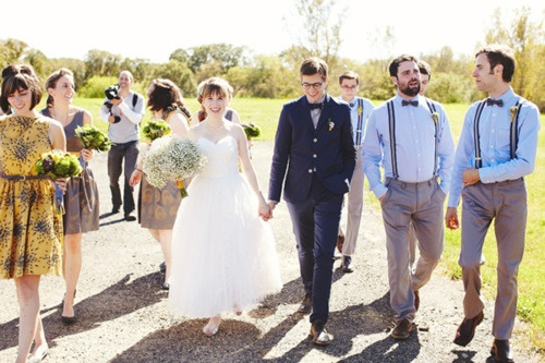 Suspenders and bow-ties are a definite win in a wedding party!