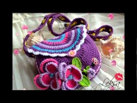Bolsos, Carteritas De Niñas Y Muñecos Tejidos Crochet . Paso a paso aqui: https://www.facebook.com/Crochet1234/ Paso a paso aqui: https://www.facebook.com/Cr...