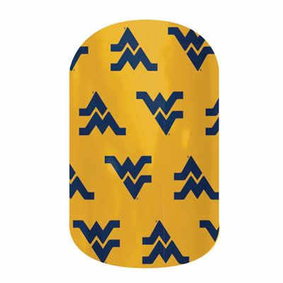 WVU Mountaineers  nail wraps by Jamberry Nails