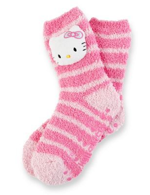 Hello Kitty Cosy Striped Slipper Socks ~Hello Kitty Addicted (=^.^=) ♥~ #HelloKitty