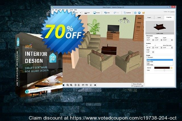Interior Design 3d Standard Coupon On Hug Day Promotion February