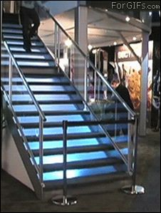 Two stairs are not blue