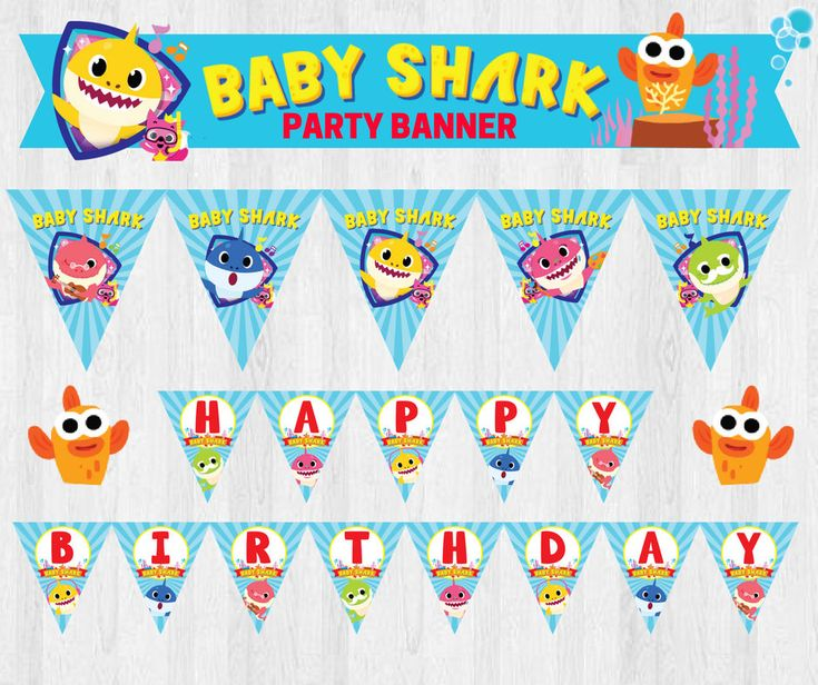 A personal favourite from my Etsy shop https://www.etsy.com/sg-en/listing/570879960/pinkfong-baby-shark-under-the-sea-party