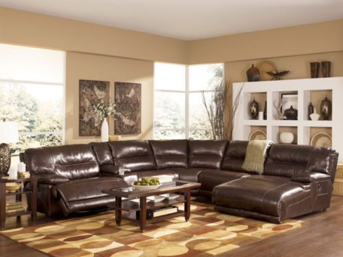 Elements Genuine Leather Recliner Sofa Couch Sectional Set Living Room Furniture
