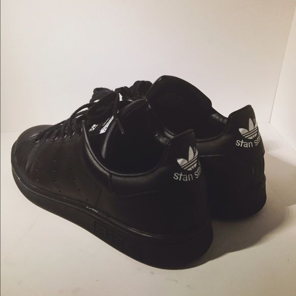 Stan Smith Adidas All black. Love these a lot, just never wear them. Adidas Shoes Sneakers