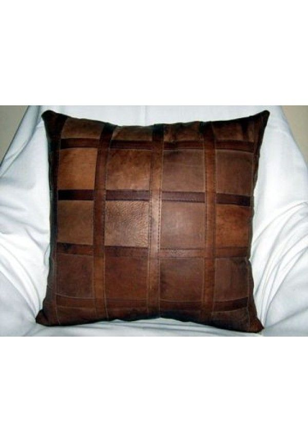 Leather block cushion, Genuine leather block cusion