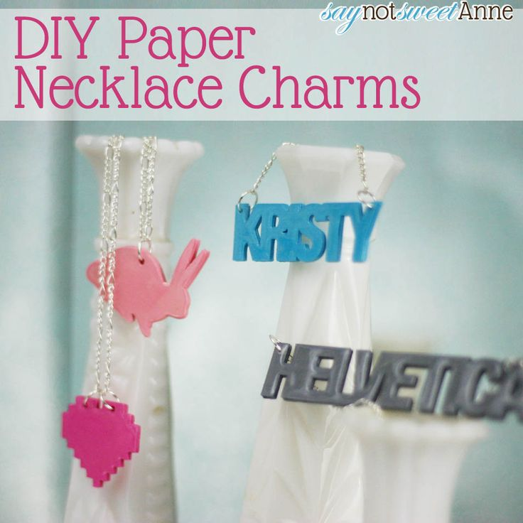 3D Paper Necklace . . . seriously, they are made out of paper, and they still last!  How awesome??