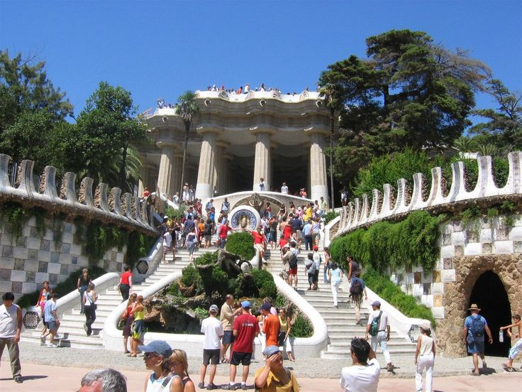 Park-Güell is another project by Gaudi. It is a park built on the hill of El Carmel in Barcelona.
