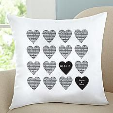 Two Hearts As One Throw Pillow