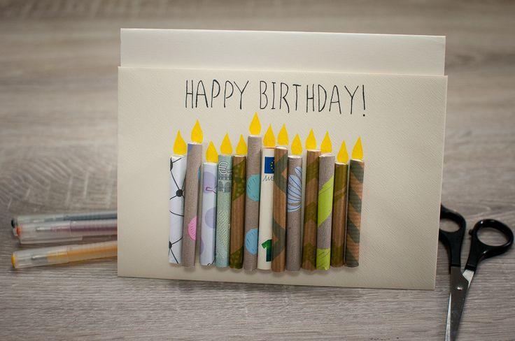 Geburtstagskarte selber basteln, Geldgeschenk, Geburtstagskarte mit Geld, DIY