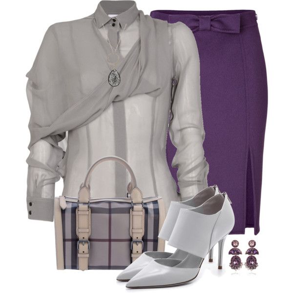 Silver and Purple, created by daiscat on Polyvore