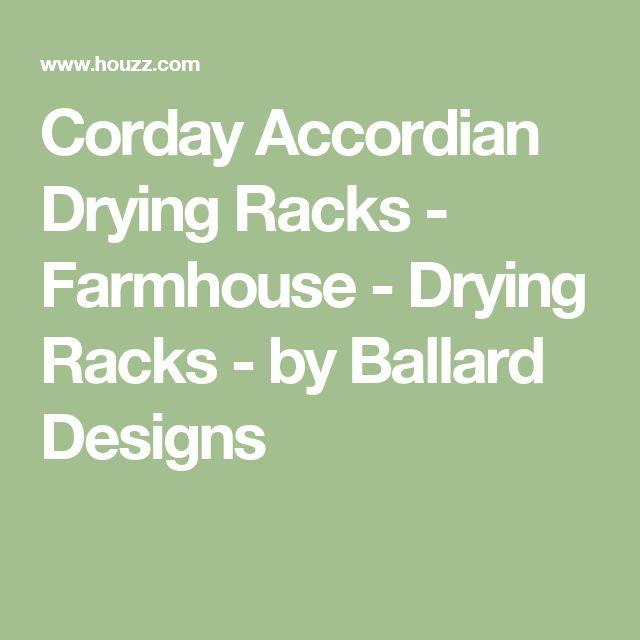 Corday Accordian Drying Racks - Farmhouse - Drying Racks - by Ballard Designs