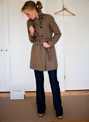 coat.Fashion, Fries Emerson, Plaid Trench, Houndstooth, Emerson Fries, Emersonmade Tweed, Dresses, Wool Trench, Trench Coats