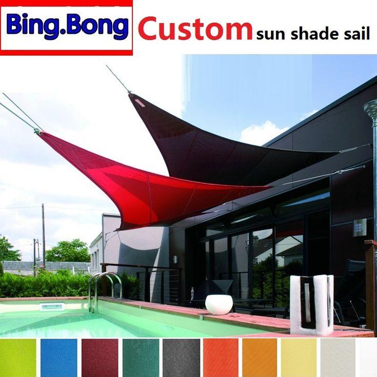 European Freeshipping Custom sun shade sail waterproof PU shade net toldo canopy outdoor pergola gazebo garden cover awning