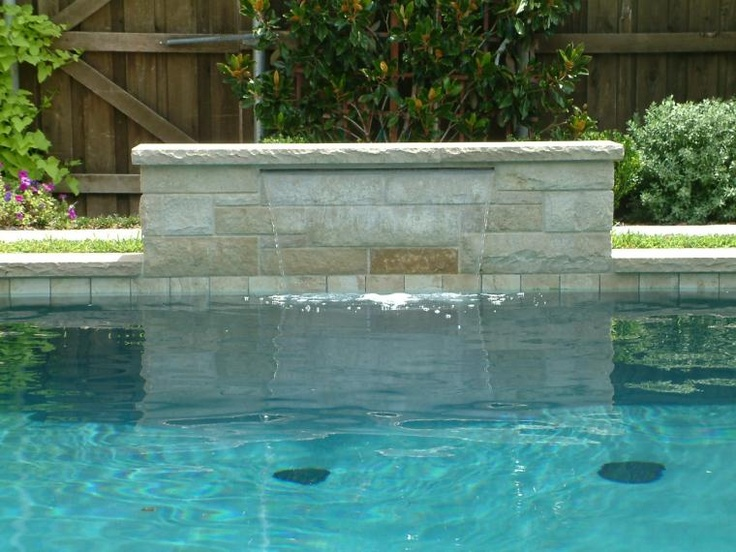 113 best images about water features on pinterest pool - Swimming pool water feature ideas ...