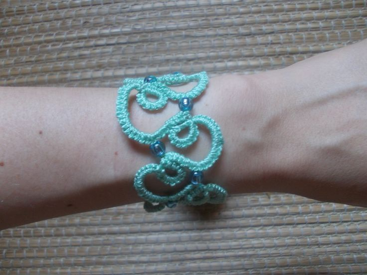 Bracciale Cotone con Perline di All of My Likes su DaWanda.com