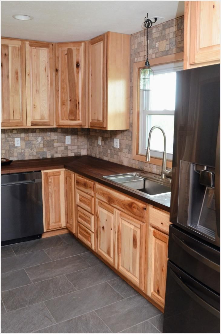 Hampton Bay Hampton Assembled 24x36x12 In Wall Kitchen Cabinet In Natural Hickory Kw2436 Nhk The Home Depot In 2020 Rustic Kitchen Cabinets Rustic Hickory Cabinets Hickory Kitchen