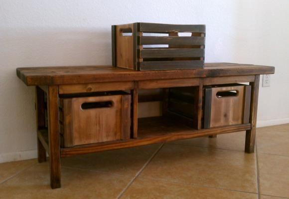 Free diy furniture plans to build the vintage workshop for Wood crate bench
