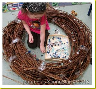 Nest for dramatic play--be a bird!