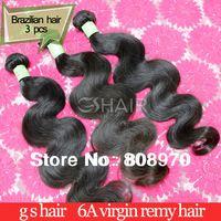 Brésilienne Virgin cheveux de vague de corps cheveux Weave meilleure vente couleur naturelle extension de cheveux ondulés 3 pcs/lote mixte longueurs 8 - 36 polegada