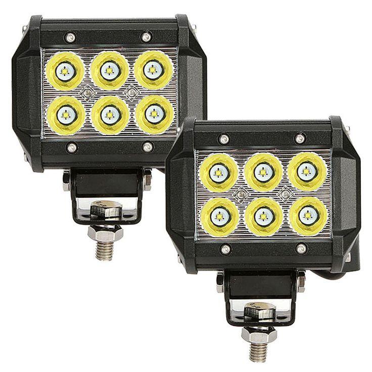 4 inch 18W CREE Spot Beam Dual Row Off Road LED Work Light Bar (2pcs/set)