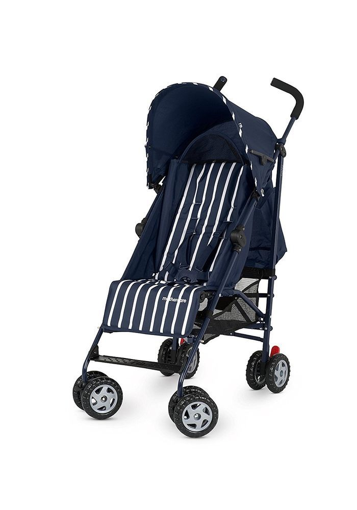 This great value Navy Single Stroller Seat is suitable from birth and features a multi-position seat recline which is easily adjusted if your little one wants to lie back for a nap or sit more upright when wide awake.
