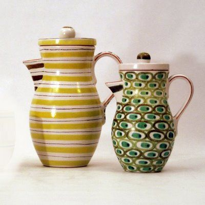 Gorgeous ceramic coffee pots by Stig Lindberg!
