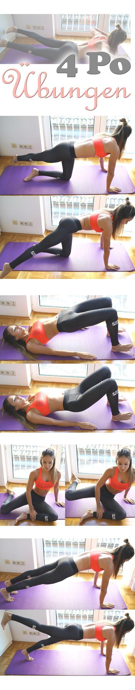 4 Po / Hintern Übungen die man Zuhause machen kann. Einfach und schnell.: