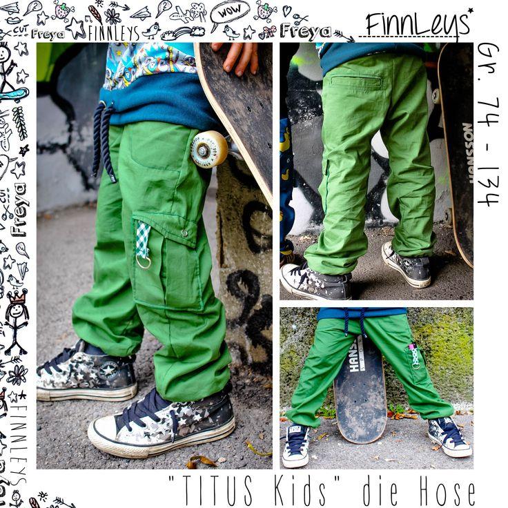 """""""Titus"""" ist eine lange Hose für jede Jahreszeit in den Einzelgrößen 74 – 134!  Titus kannst du jeder Jahreszeit und jedem Anlass anpassen.  Du kannst sie aus fast jedem Bekleidungsstoff nä…"""