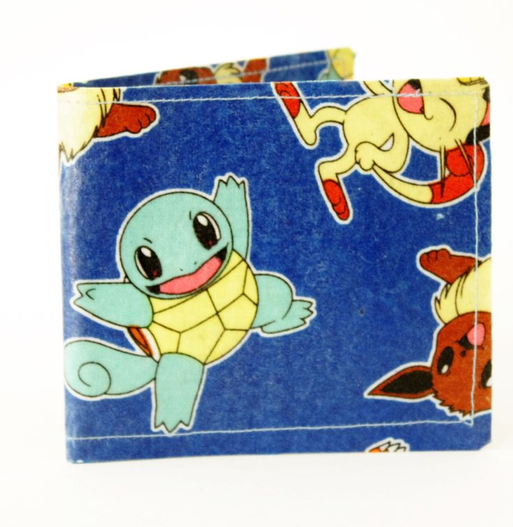 Pokemon Unisex BiFold Wallet, Credit Card Wallet, Pokemon Wallet, Geek Wallet, Nerd Wallet,Anime, Fandom, Pikachu, Squirtle, Ash Ketchum by TheRoughGem on Etsy