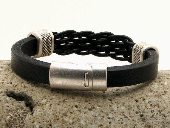 EXPRESS verzending mannen Bracelet.Leather armband. Lederen
