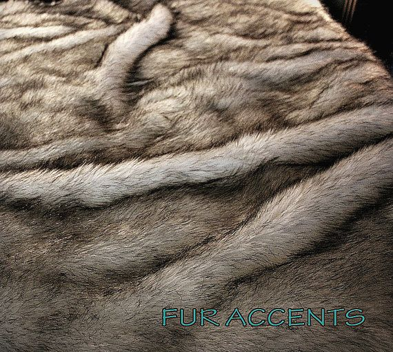 Faux Fur Russian Wolf Bedspread / Comforter / Throw by FurAccents