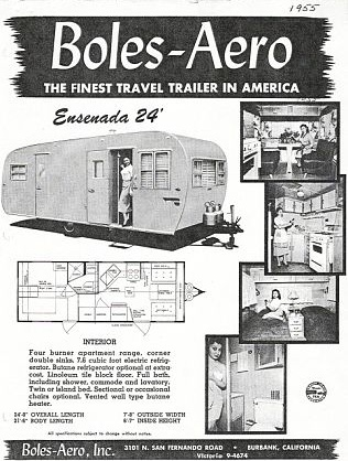 Ad for the 1955 boles aero vintage camper ideas pinterest for